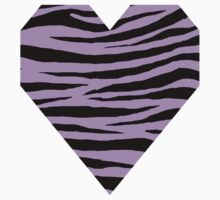0069 Bright Ube Tiger Baby Tee