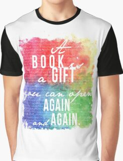 A Book is a Gift Graphic T-Shirt