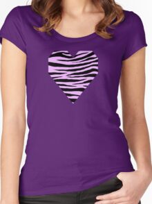 0070 Brilliant or Electric Lavender Tiger Women's Fitted Scoop T-Shirt