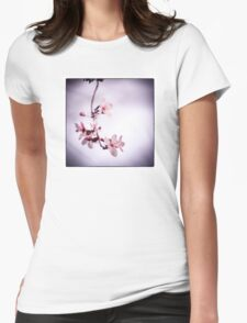 Plum blossoms Womens Fitted T-Shirt