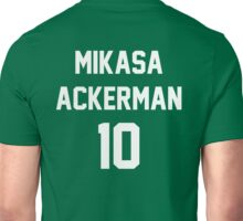 Attack On Titan Jerseys (Mikasa Ackerman) Unisex T-Shirt