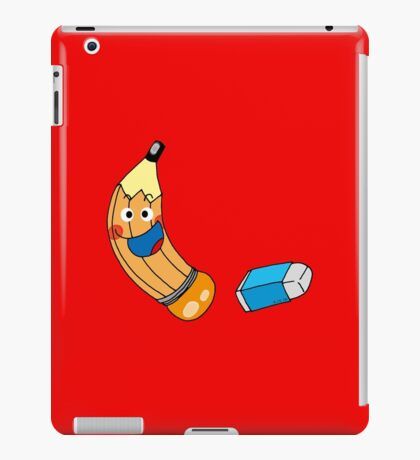 Funny pencil & eraser cartoon iPad Case/Skin