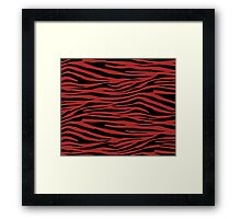 0075 Web Brown Tiger Framed Print
