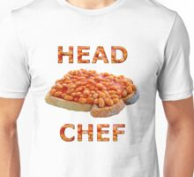 Head Chef Beans on Toast Unisex T-Shirt