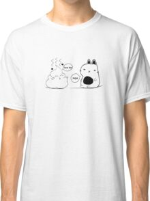 The Cat and The Poo Print Classic T-Shirt