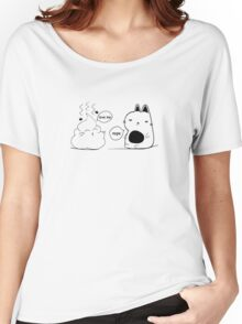The Cat and The Poo Print Women's Relaxed Fit T-Shirt