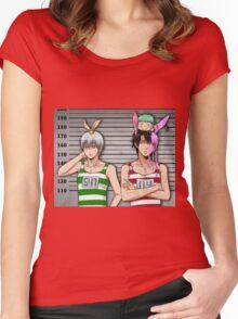 Anime Mugshot Women's Fitted Scoop T-Shirt