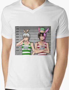 Anime Mugshot Mens V-Neck T-Shirt
