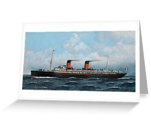 Antonio Jacobsen - French Steamer La Provence  Greeting Card