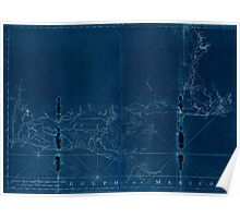 American Revolutionary War Era Maps 1750-1786 490 Chart of the Gulf Coast from Pensacola to Atchafalaya River Inverted Poster