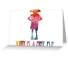 Dobby Is A Free Elf - Colourful Silhouette Greeting Card