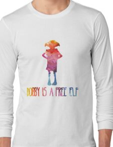 Dobby Is A Free Elf - Colourful Silhouette Long Sleeve T-Shirt