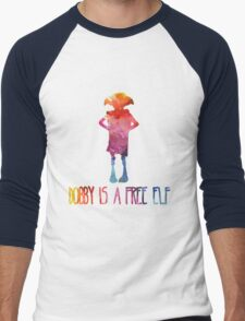 Dobby Is A Free Elf - Colourful Silhouette Men's Baseball ¾ T-Shirt