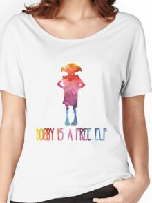 Dobby Is A Free Elf - Colourful Silhouette Women's Relaxed Fit T-Shirt