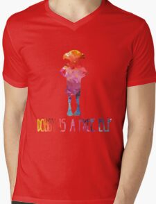 Dobby Is A Free Elf - Colourful Silhouette Mens V-Neck T-Shirt