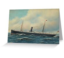 Antonio Jacobsen - The Steamship Concho  Greeting Card