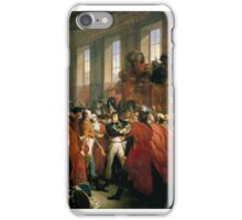 François Bouchot - General Bonaparte at the Council of 500 in Saint-Cloud, November  iPhone Case/Skin