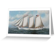 Antonio Jacobsen - Three Masted Schooner Andrew C. Pierce  Greeting Card