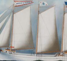 Antonio Jacobsen - Three Masted Schooner Andrew C. Pierce  Sticker