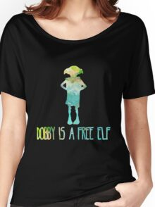 Dobby Is A Free Elf - Colourful Silhouette #2 Women's Relaxed Fit T-Shirt