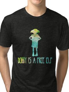 Dobby Is A Free Elf - Colourful Silhouette #2 Tri-blend T-Shirt