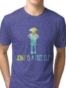 Dobby Is A Free Elf - Colourful Silhouette #2 Tri-blend T-Shirt