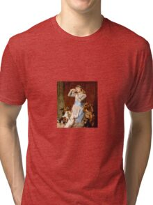 Briton Riviere - Girl With Dogs  Tri-blend T-Shirt