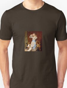 Briton Riviere - Girl With Dogs  Unisex T-Shirt
