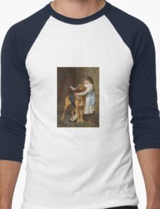 Briton Riviere - Reading Lesson Compulsory Education Men's Baseball ¾ T-Shirt