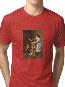 Briton Riviere - Reading Lesson Compulsory Education Tri-blend T-Shirt