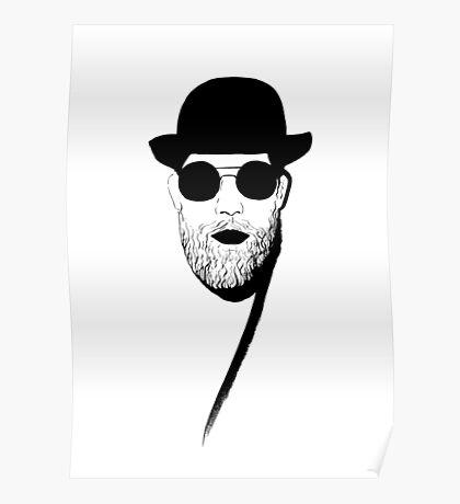 Beard retrofashion Poster