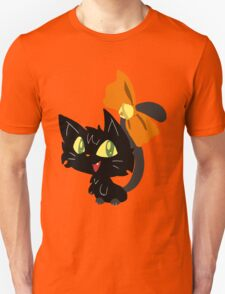 Halloween Black Cat with a Ribbon Unisex T-Shirt
