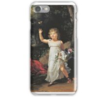 François-Xavier Fabre - Portrait of Edgar Clarke, full-length, in a forest iPhone Case/Skin