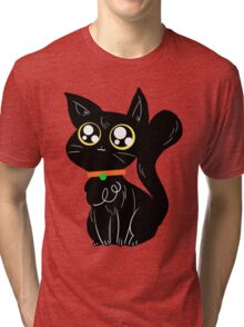 Cute Halloween Black Cat Tri-blend T-Shirt
