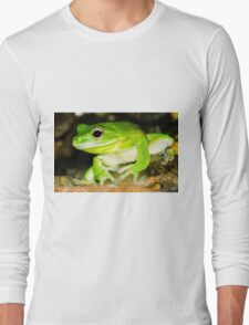 White lipped Tree Frog Long Sleeve T-Shirt