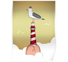Lighthouse of the Seagull Poster