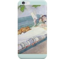 Carl Larsson - Woman Lying On A Bench iPhone Case/Skin