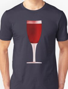 Red Wine Glass Drawing Unisex T-Shirt