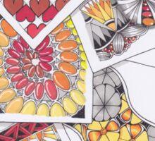 Zentangle Inspired Artwork (ZIA) - Tumbling Blocks Sticker