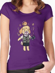 Isabelle -  animal crossing Women's Fitted Scoop T-Shirt
