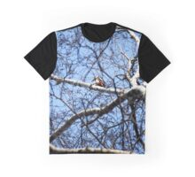 """""""Great Spotted Woodpecker in search of food"""" Graphic T-Shirt"""