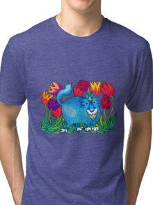 Prussian Blue Tri-blend T-Shirt