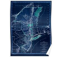 American Revolutionary War Era Maps 1750-1786 113 A map of the provinces of New York and New Jersey with a part of Pennsylvania and the Province of Quebec Inverted Poster