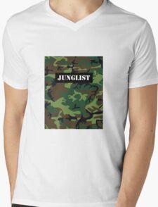 Junglist camo print Mens V-Neck T-Shirt