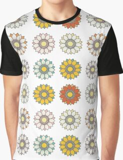 Trendy Colorful Floral Design  Graphic T-Shirt