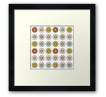 Trendy Colorful Floral Design  Framed Print