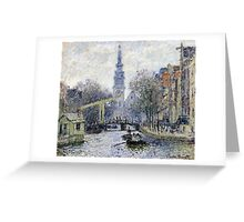 Claude Monet - Canal Amsterdam Greeting Card