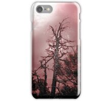 Red Tree Silhouette iPhone Case/Skin
