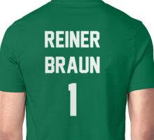 Attack On Titan Jerseys (Reiner Braun) Unisex T-Shirt