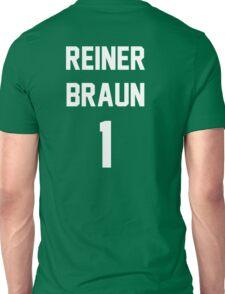 Attack On Titan Jerseys (Reiner Braun) Unisex T-Shirt